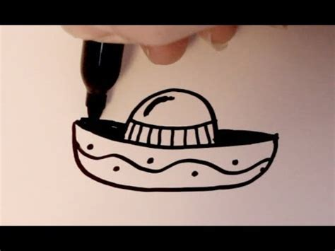 cartoon sombrero how to draw a cartoon sombrero youtube