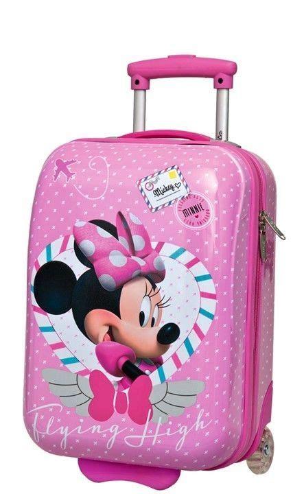 Car Set 8 In 1 Minnie 1 disney abs luggage wheels shell boys wheeled trolley bag bag cabin