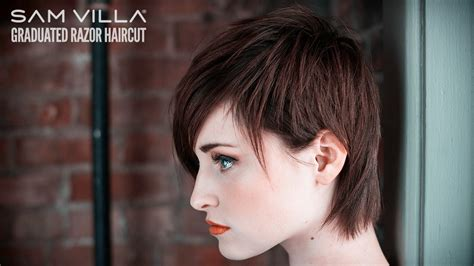 tutorial on trimming pixie cut short razor haircut tutorial how to create scattered