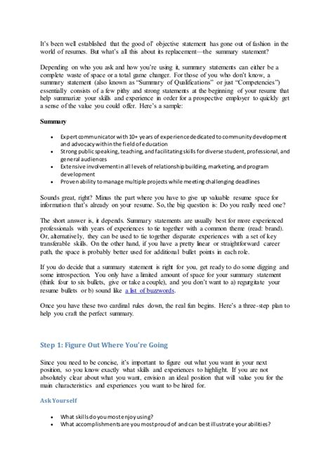 Resume Objective For Person 5 things reading your resume wish you