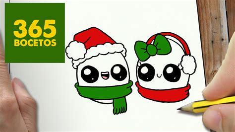 imágenes de navidad kawaii como dibujar huevos para navidad paso a paso dibujos