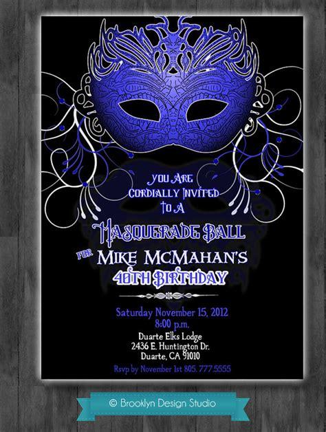 masquerade themes names masquerade party invitation masculine by brooklyndesignstudio