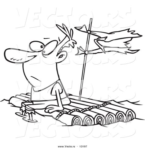 Raft Coloring Page