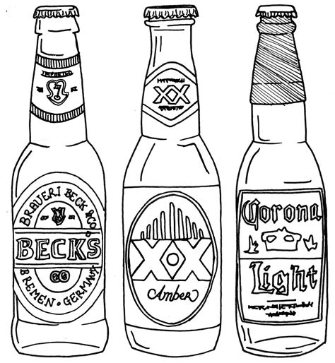 beer free coloring pages