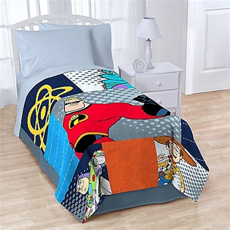 buy disney 174 pixar patchwork fleece throw blanket from bed