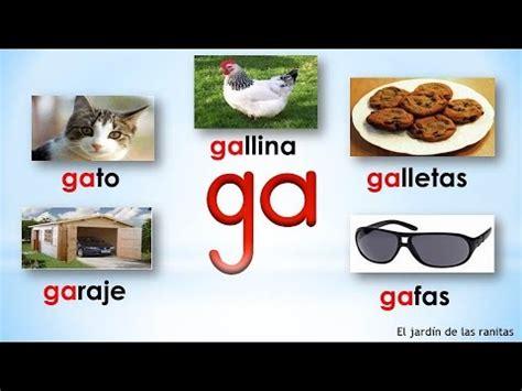 imagenes que empiecen con la letra ga 16 s 237 labas ga go gu syllables with gg youtube