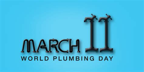 march 11th is world plumbing day thank a plumber today