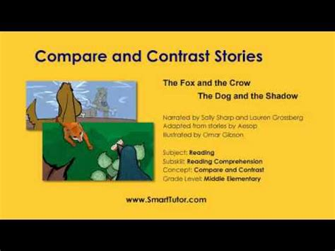 the fable compare and contrast and literacy on pinterest compare and contrast stories second grade youtube