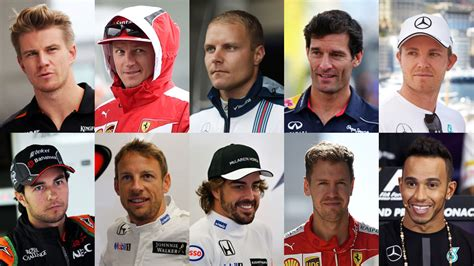 best drivers your top ten f1 drivers of the last five years revealed