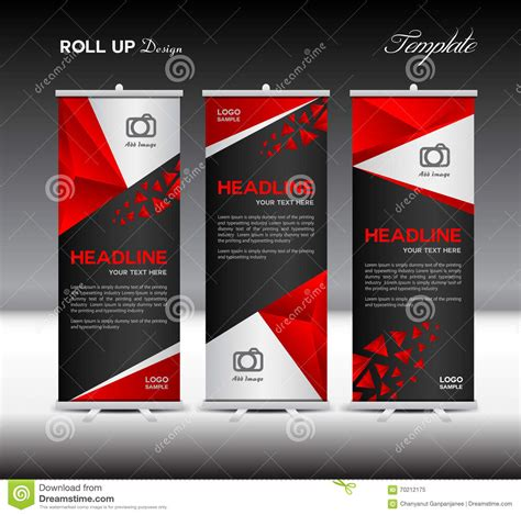Red Roll Up Banner Template Vector Illustration Banner Design P Stock Vector Illustration Of Roll Up Banner Design Template Free