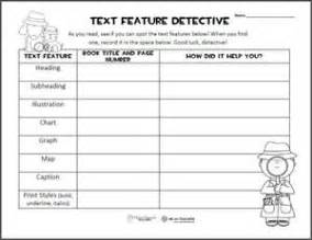 Printable of the week text features graphic anizer grades 3 6