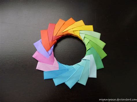 Easy Origami Ring - origami mette pedersen ring by origamipieces on deviantart
