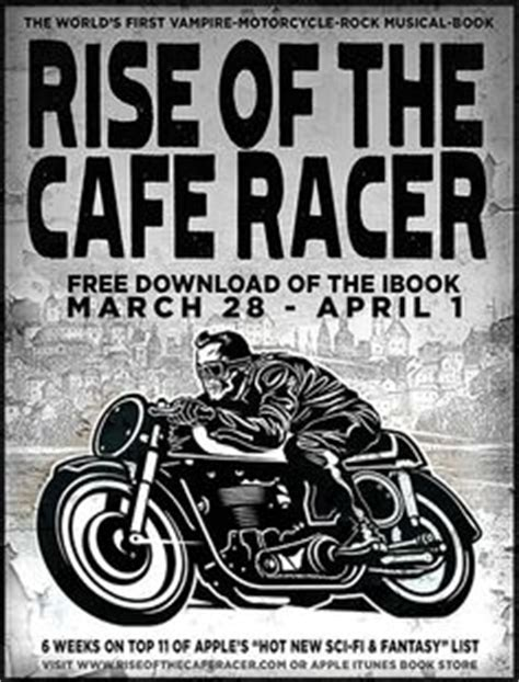 Poster Bingkau Kayu Cafe Racer bikes pirate skull and anniversaries on