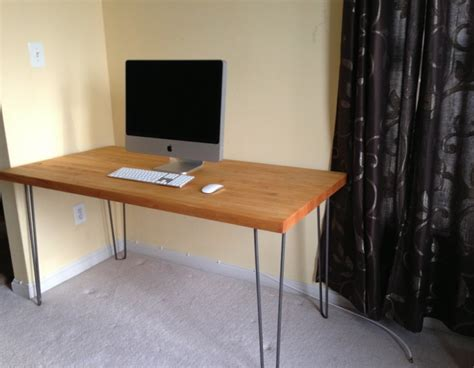 make your own desk at any height using hairpin table legs