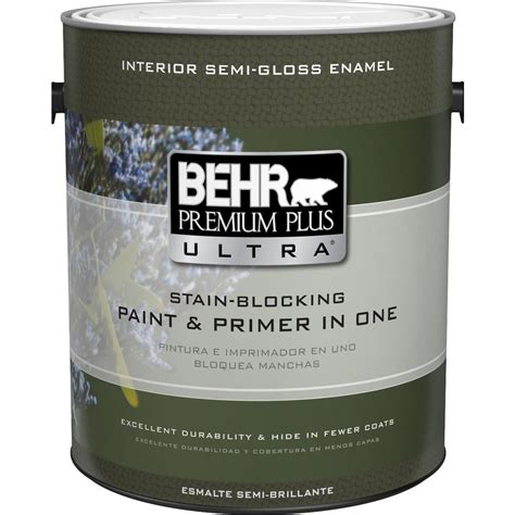 behr premium plus 1 gal swiss coffee semi gloss enamel zero voc interior paint 301201 the