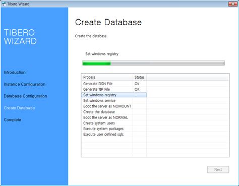 creating an database free chapter 3 installation