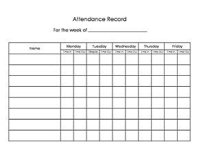Daycare Sign In Sign Out Sheet Easy Way To Keep Track Of Attendance Have The Parents Fill In Preschool Sign In And Out Sheet Template