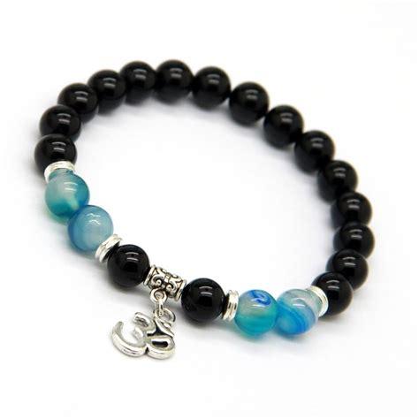 Gelang Batu Black Onyx Wrap Bracelet 7 8mm 2015 new design beaded wrap jewelry wholesale 8mm