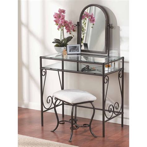 Metal Vanity Sets For Bedrooms by Clarisse Metal Bedroom Vanity Set At Hayneedle