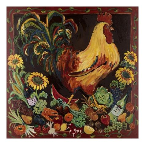 printable poster art wine and rooster art poster print by suzanne etienne