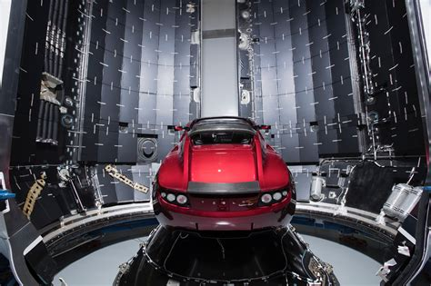Tesla Spacex Elon Musk Unveils His Tesla Roadster Being Prepped For