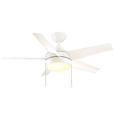 White Ceiling Fan Light Kit Home Decorators Collection Windward 44 In Led Indoor Matte White Ceiling Fan With Light Kit