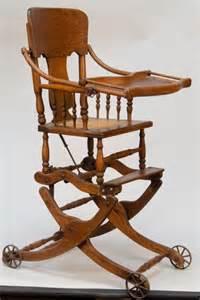 Rocker High Chair Desk Combo 227 Antique Oak Convertible Baby S Highchair Rocker Lot 227