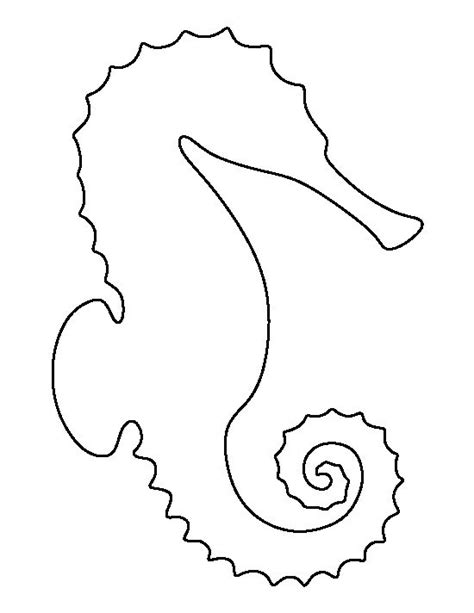 printable animal art sea horse pattern use the printable outline for crafts