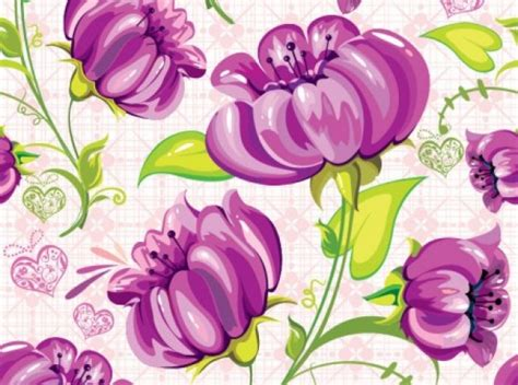 hand painted flower pattern hand painted flowers pattern background vector free download