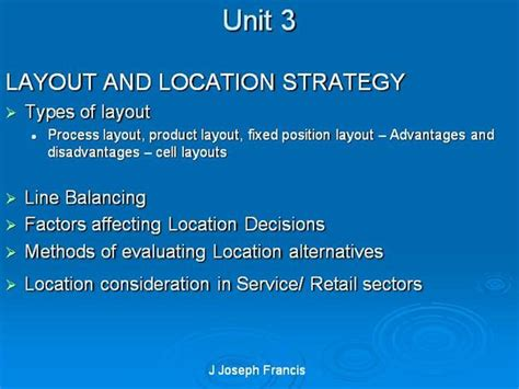 retail layout advantages and disadvantages layout and location strategy authorstream