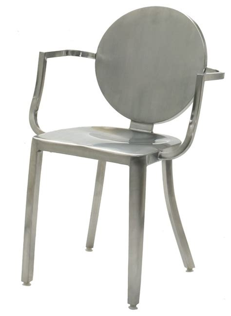 indoor stainless steel dining chair brushed