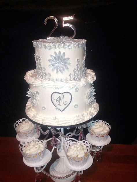 25th Anniversary Wedding by 25th Wedding Anniversary Cake Wedding Cake Cake Ideas By
