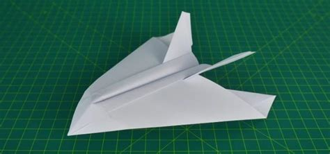 How To Make A Paper Jet Fighter - how to make a paper airplane stealth fighter 171 papercraft