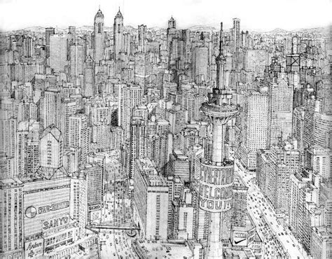 drawings of cities imaginary cities post your drawings