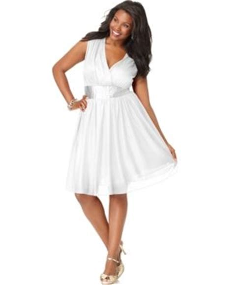 white dresses for plus size women pjbb gown