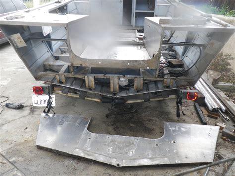 aluminum boat plug repair valco bayrunner transom rebuild