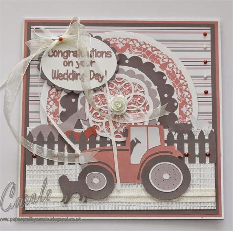 papercraft by carole farm themed wedding card