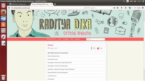 Kambing Jantan Cover Baru By Raditya Dika buku buku yang ditulis oleh raditya dika