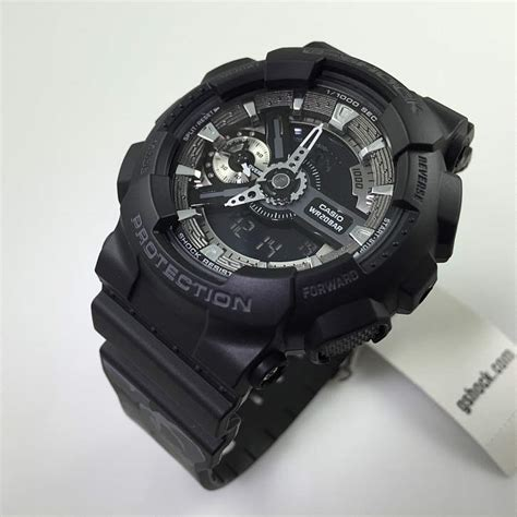 s black casio g shock analog digital gmas110f 1a