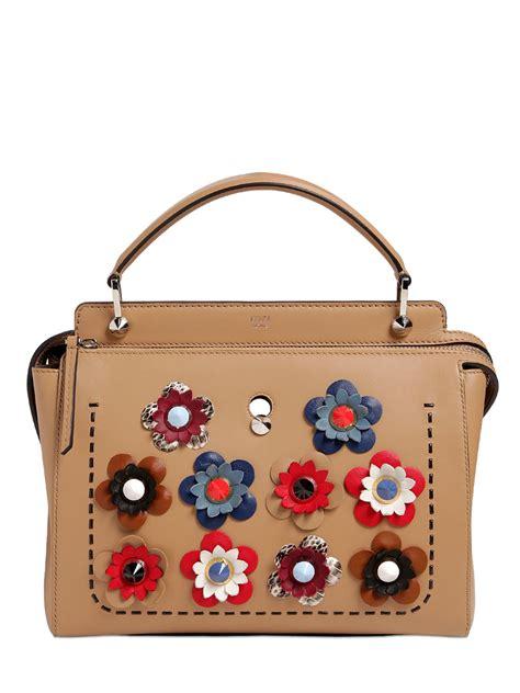 Wallet Bag Flower Walletbag Flower lyst fendi flower appliqu 233 s leather bag in