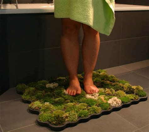 moss bathroom rug green bathroom rug a mat made from real moss