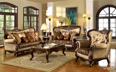 antique style traditional wing  formal living room furniture set tan brown ebay