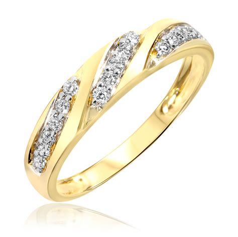 carat tw diamond womens wedding ring  yellow gold  trio