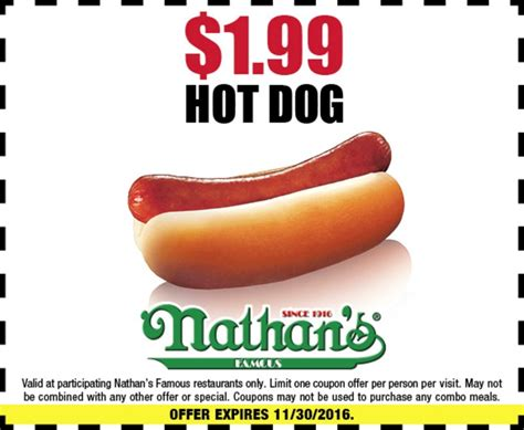 nathans dogs nathan s coupons printable coupons in store coupon codes