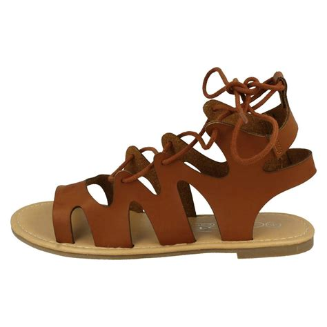 sandals that lace up the leg spot on flat gladiator sandals lace up leg ebay