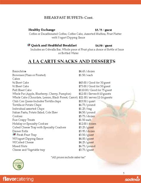 catering brochure templates sandia catering brochure templates free