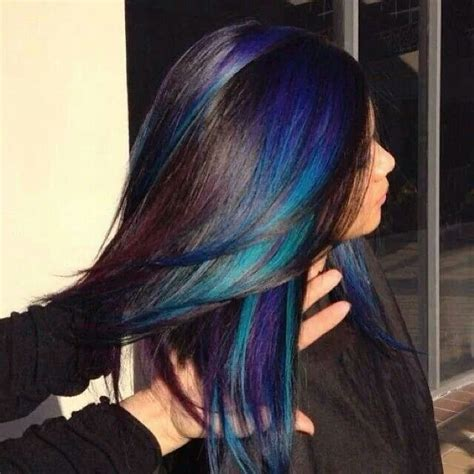 hairstyles with teal highlights top 15 colored hairstyles don t miss this peekaboo