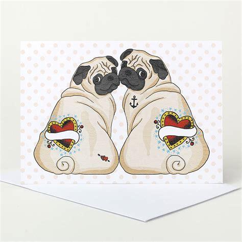 pug wedding customisable pug wedding card by pugyeah notonthehighstreet