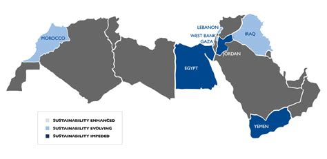middle east map morocco 2012 cso sustainability index for the middle east and