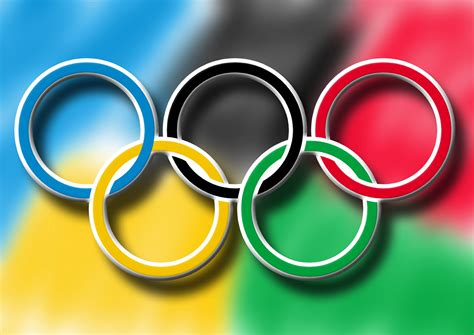 olympic colors olympic rings free stock photo domain pictures